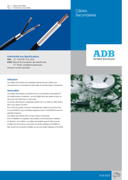 Câbles Secondaires - ADB Airfield Solutions