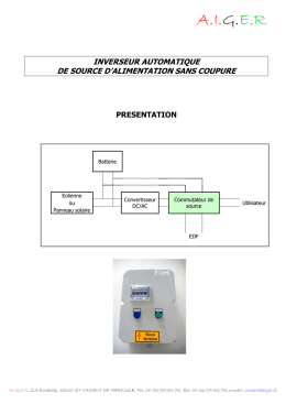 inverseur automatique de source d`alimentation sans