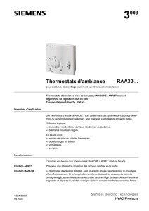 3003 Thermostats d`ambiance RAA30…