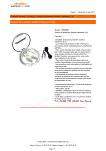 Embout de protection auditive Pianissimo S-20