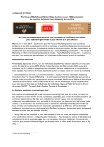 The House of Marketing et l`Union Belge des Annonceurs (UBA