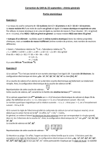 Correction SAR Chimie populaire