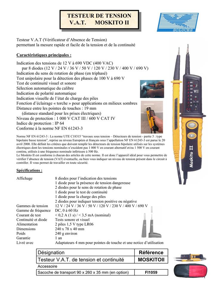 Testeur de tension AC//DC d/étecteur de tension multifonction pour sensibilit/é 12 V-1000 V d/étecteur de tension sans contact pour alarme sonore et lumineuse