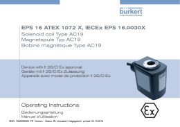 Operating Instructions EPS 16 ATEX 1072 X, IECEx EPS