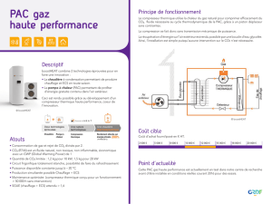 PAC gaz haute performance