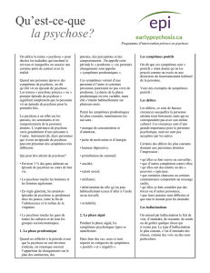 Qu`est-ce-que la psychose? - Early Psychosis Intervention