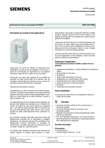 Description du produit et des applications Programme d`application