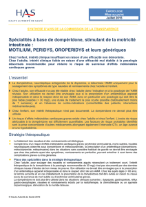 avis de la Commission de la transparence