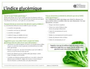 L`indice glycémique - Canadian Diabetes Guidelines