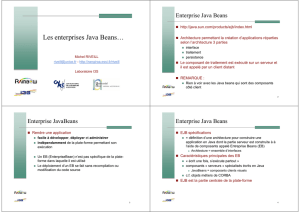 Les enterprises Java Beans…