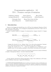 Programmation applicative – L2 TD 1 : Premiers concepts d