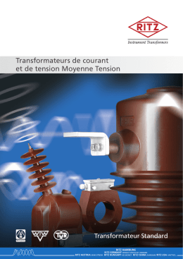Transformateurs de courant et de tension Moyenne Tension
