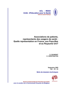 Associations de patients, représentants des usagers de santé