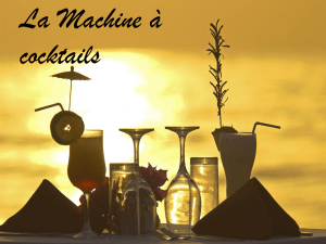 La machine à cocktails