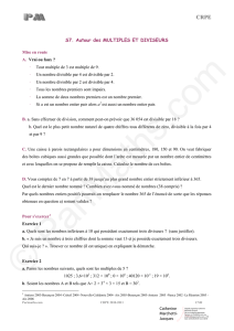 Exercices – Multiples et diviseurs