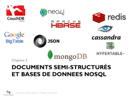 DOCUMENTS SEMI-STRUCTURÉS ET BASES DE DONNEES