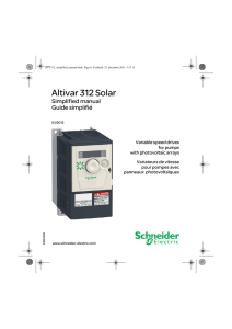 Altivar 312 Solar - Schneider Electric