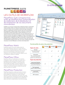 Les outils de workflow: PlanetPress Suite Version 7