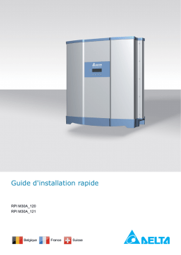Guide d`installation rapide