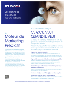 Moteur de Marketing Prédictif