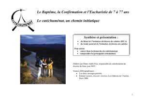 rituel de l`initiation chretienne des adultes