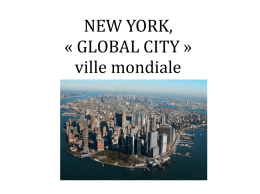 NEW YORK, « GLOBAL CITY » ville mondiale