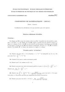Matrices infiniment divisibles - banques