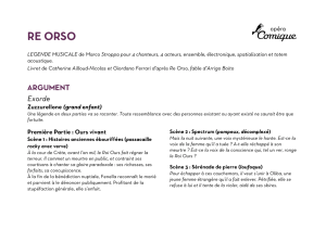 Re Orso a lire avant le spectacle