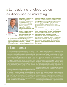 Le relationnel englobe toutes les disciplines de marketing :: :: Les