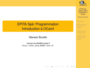 EPITA Spé: Programmation Introduction à OCaml - wiki-prog