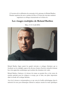 Les visages multiples de Roland Barthes