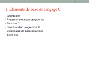 Langage C (Elements de base)