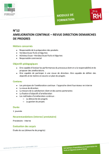 n°12 amelioration continue – revue direction demarches