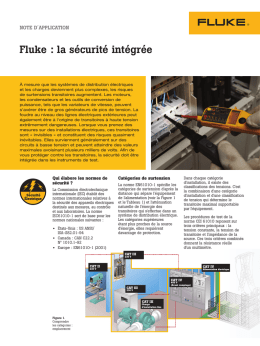 Fluke: Where safety is built in
