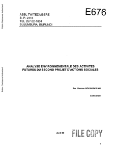 World bank documents