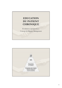 EDUCATION DU PATIENT CHRONIQUE