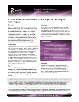 Examen de la tomodensitométrie pour le diagnostic des