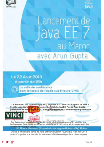 Le Morocco Java User Group lance le JavaEE 7