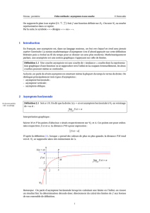 1 Introduction 2 Asymptote horizontale
