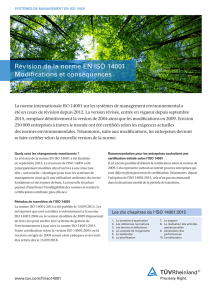 ISO 14001:2015 – Changes and implications