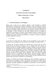 L`INSERTION CONCEPTUALISATION ET