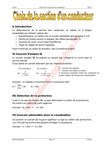 Calcul de la section d`un conducteur