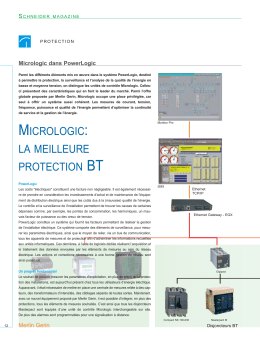 Schneider Magazine 24 - Micrologic : la meilleure protection BT