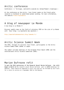 Arctic conference,A blog of newspaper Le Monde,Arctic Science