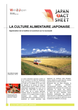 La culture alimentaire japonaise