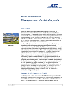 Développement durable des ponts - Transportation Association of