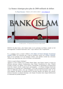 La finance islamique pèse plus de 2000 milliards de dollars