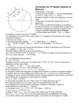 Correction du TP Kepler, Newton et Mercure