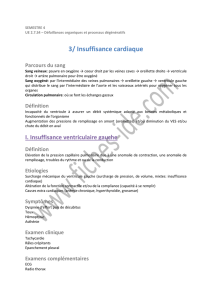 3/ Insuffisance cardiaque - Fiches