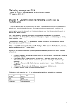 Synthese ch4 marketing management la communication